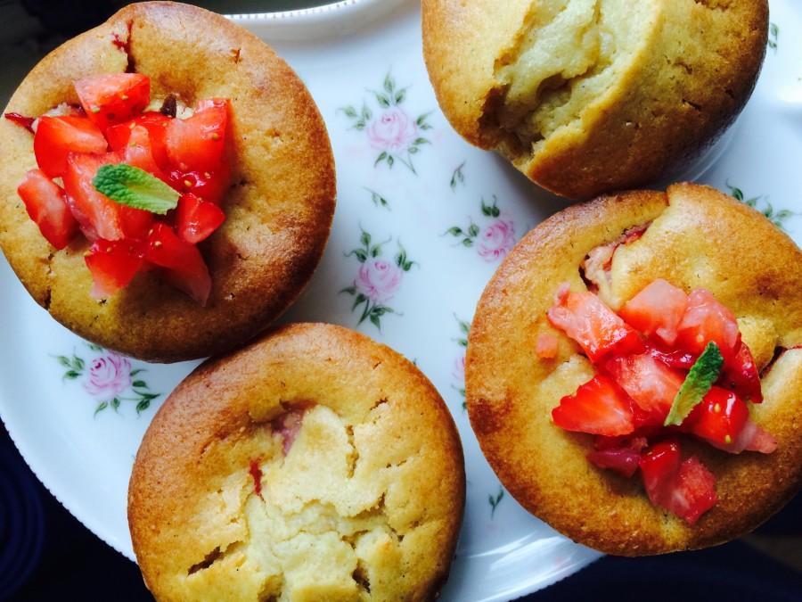 Muffin de Morango e Ricota