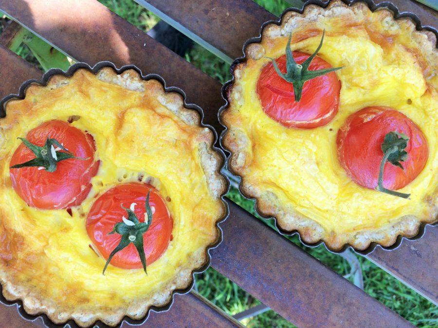 Quiche Integral de Queijo e Tomate