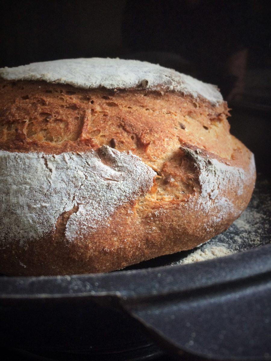 Pão da Lito, o primeiro da série 'Um Pão Para Cada Amigo': Centeio, Amaranto e Linhaça {Levain}