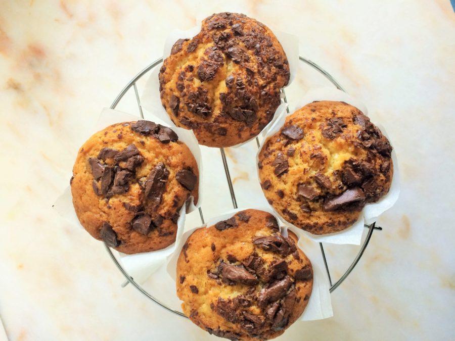 Muffin de Baunilha e Chocolate