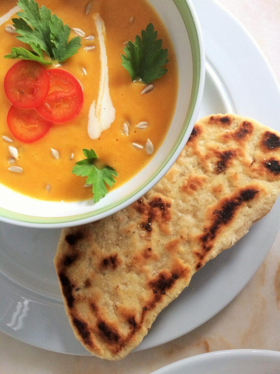 Sopa Picante de Cenoura e Couve-Flor